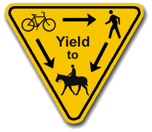 Who Yields on the Trail?