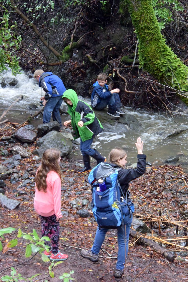 School Program Students enjoy a hike